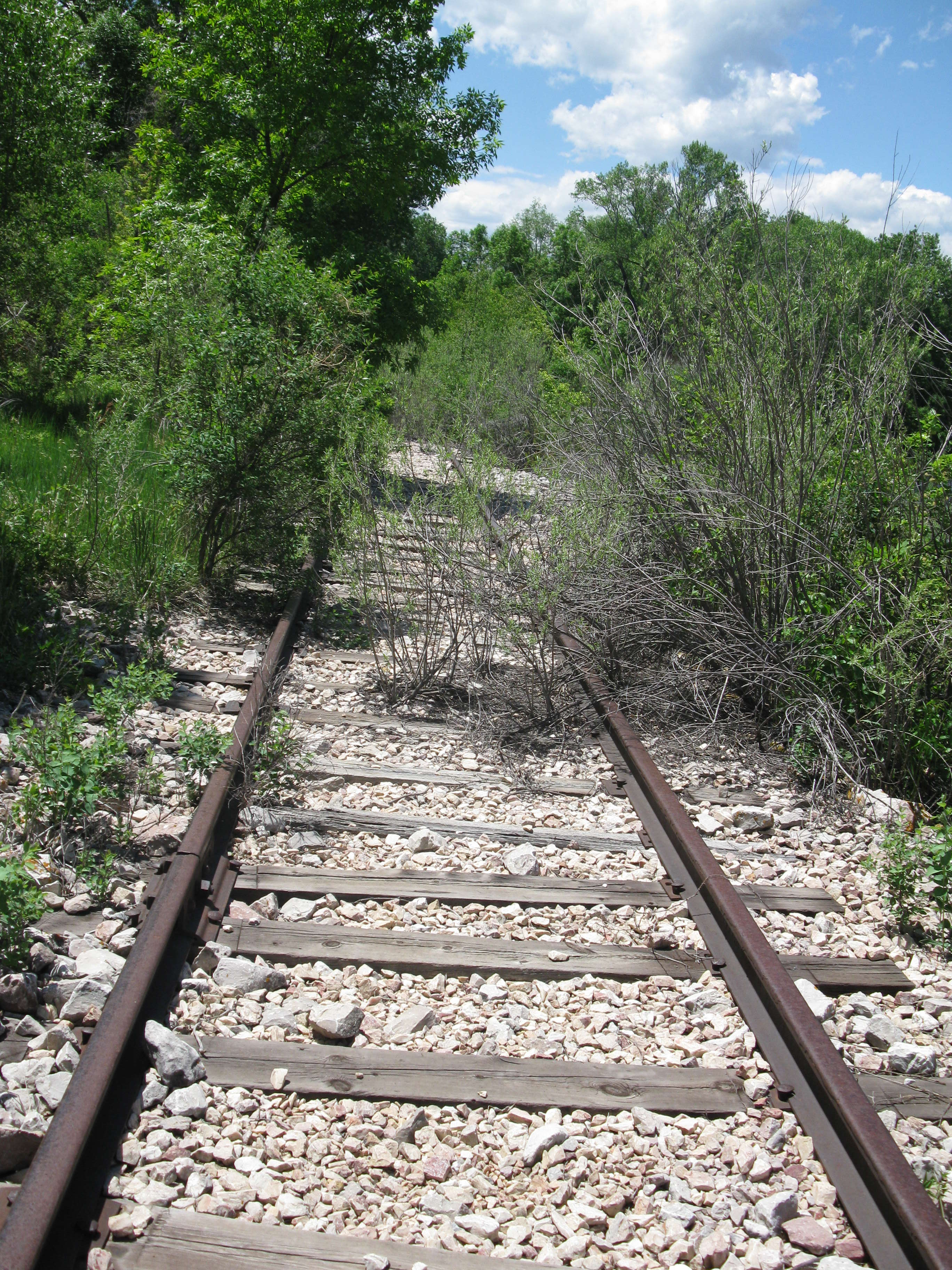 The Greeley Salt Lake & Pacific tracks run along the Poudre River, northwest of Fort Collins, CO.